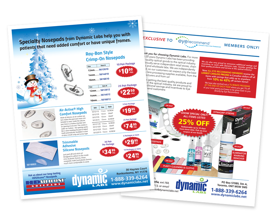 Dynamic Labs Monthly Promos